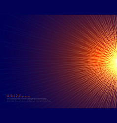 Abstract lines background making a glowing sun vector