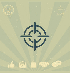 aim icon vector image vector image