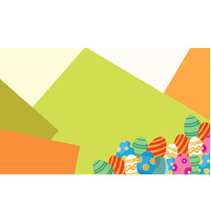 background of easter style design vector image