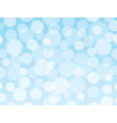 Blue background with bokeh lights vector image vector image