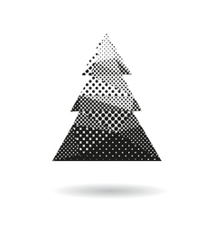 Christmas tree abstract isolated vector