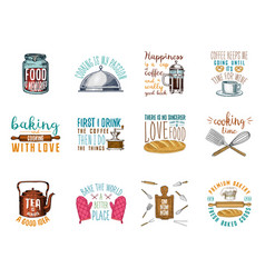 Coffee maker or kettle french press rolling pin vector