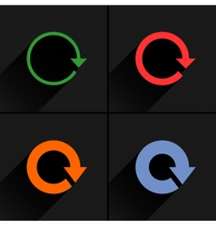 Color arrow refresh rotation reset repeat icon vector