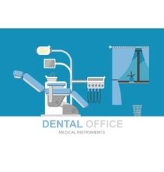Dentist chair isolated vector