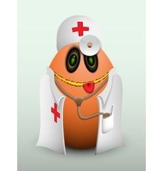 Egg doctor in scrubs vector