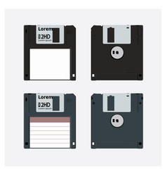 floppy disk realistic vector image vector image