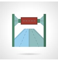 Highway billboard flat icon vector image