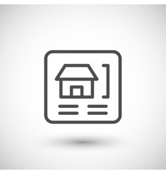 House scheme line icon vector