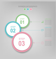 Infographic of circle element flat design of busi vector