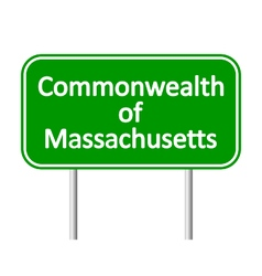 Massachusetts green road sign vector