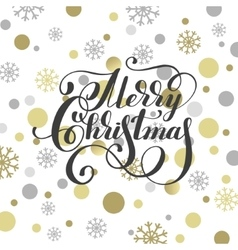 merry christmas hand written calligraphy with vector image vector image