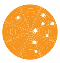 orange Halloween background with web vector image