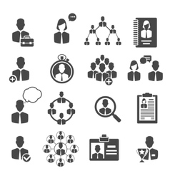 People management and business structure icons vector
