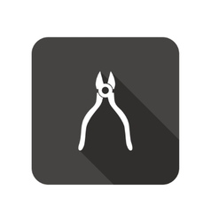 Pliers tool icon repair fix symbol rounded vector