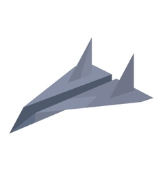 purple paper plane traveling toy vector image