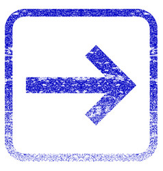Right arrow framed textured icon vector