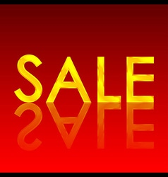 Sale gold reflect vector image