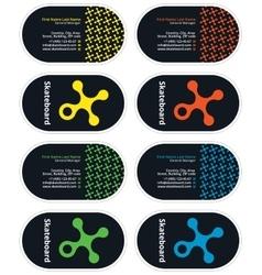 Skateboard business card vector