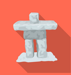 Stone sculpture in canada canada single icon in vector