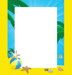 summer border vector image vector image