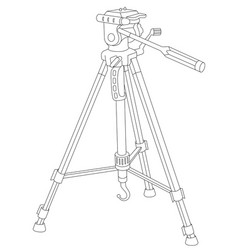 Tripod for camera and camcorder vector