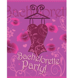 Wrapping gifts corset bachelorette party vector