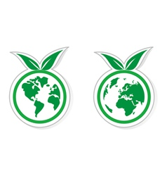 Eco recycling icon vector image