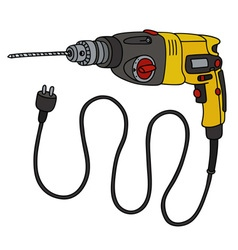 Yellow impact drill vector