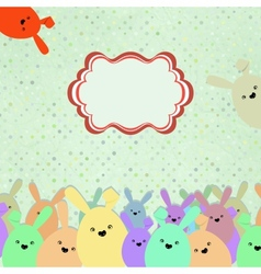 Card with colorful rabbits for life events eps 8 vector