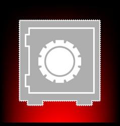 safe sign postage stamp or old photo vector image