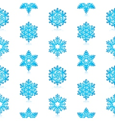 Blue snowflakes pattern vector