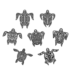 Tribal turtles tattoos vector