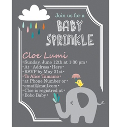 Baby-shower elephant vector