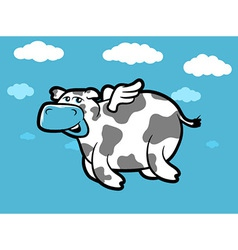 Flying Cow vector image