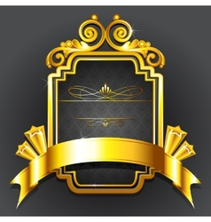 Golden royal badge vector