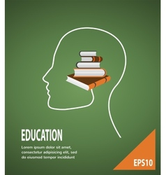 The concept of modern education infographic vector