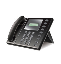 Office phone isolated vector