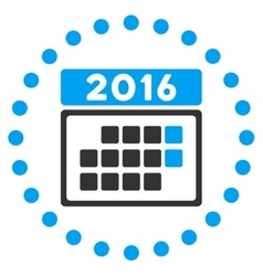 2016 month appointment icon vector