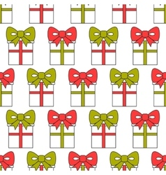 Gift boxes packaging seamless pattern of boxes vector
