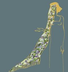 Woman witk veil vector