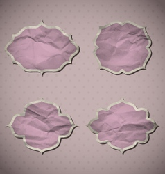 Pink crumpled frames vector