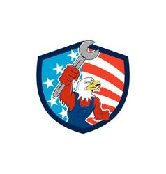 American bald eagle mechanic spanner circle usa vector