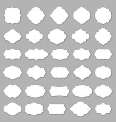 Blank frame and label set vector