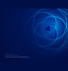 Blue technology background with abstract lines vector