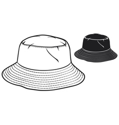 bucket hat collection vector image vector image
