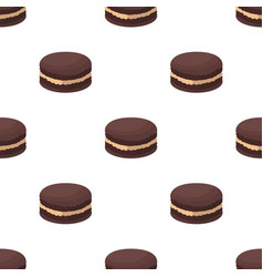 Chocolate biscuit icon in cartoon style isolated vector