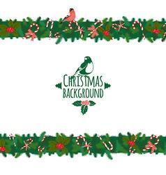 Christmas festive candy wreath frame vector