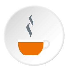 Cup of hot tea icon flat style vector image