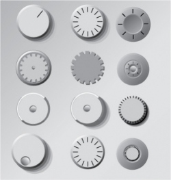 dials and knobs vector image
