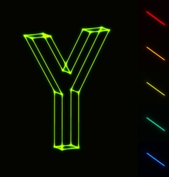 EPS10 glowing wireframe letter Y - easy to change vector image